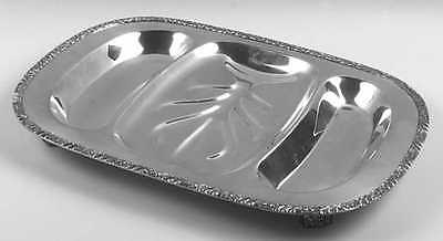 Oneida HENLEY SILVERPLATE 3 Section Footed Meat Platter (No Ref #) 3370605