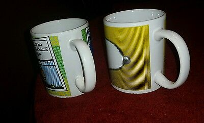Lot of 2 Peanuts Snoopy character coffee cups