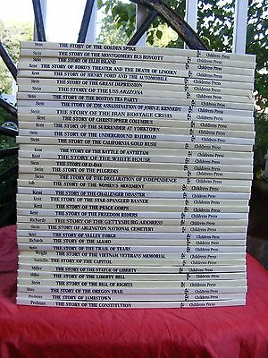 Lot of 37 Cornerstones of Freedom Children's Press History Books