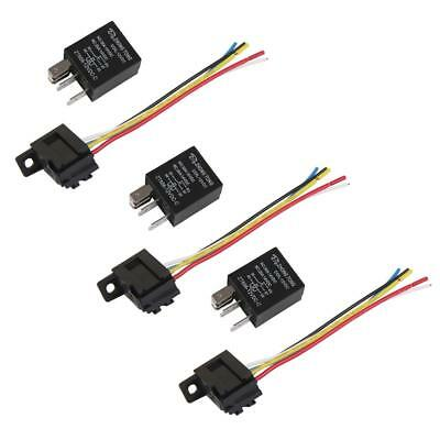 3Pack Car Vehicle DC 12V 20A 30AMP Black Relay & Socket SPDT 5Pin 5 Wire