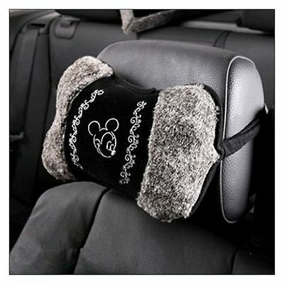 NEW Mickey Mouse Plush Car Headrest Pillow Cushion 1 Pair