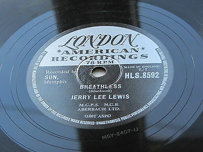 Jerry Lee Lewis   Uk  1958  London  78   Down The Line   /    Breathless