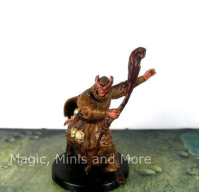 SAVAGE ENCOUNTERS TIEFLING NECROMANCER #37 rare Dungeons and Dragons D&D  mini