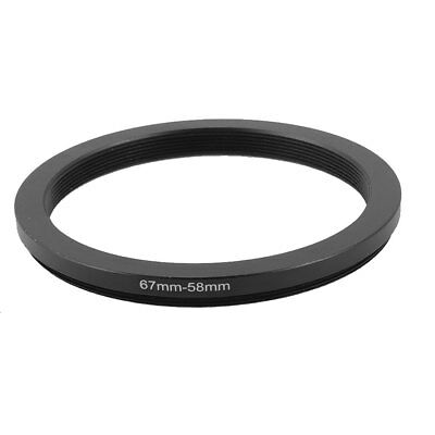 67mm-58mm 67mm to 58mm Step Down Camera Ring Adapter Black