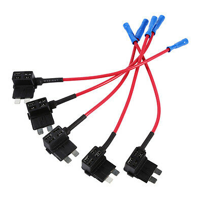 5Pcs Medium Middle Standard ATO ATC Blade Fuse TAP Circuit Adapter Auto Car DY