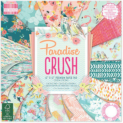 Dovecraft 12x12 First Edition Papier Packung - Paradis Crush