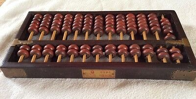 Vintage Chinese Abacus Wooden Counting Frame Early
