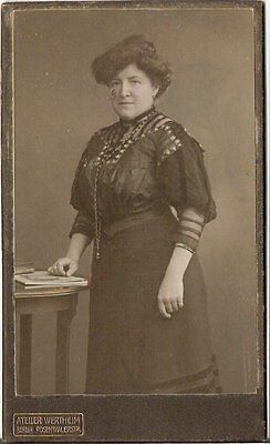 CDV photo Feine Dame mit Widmung - Berlin 1900er