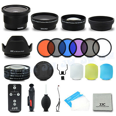 Fisheye Wide Angle Tele Lens Filter Kit for 58MM Canon EOS 700D 650D 600D 100D