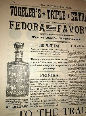 Vogeler Perfume Illustrated 1880's Ad W Bottle Baltimore New York Extract