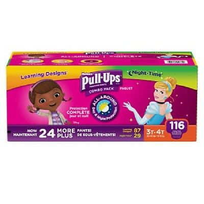 Huggies Pull-Ups Training Pants for Girls Size: 3T-4T 116 count - NEW