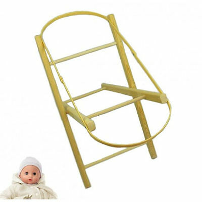 New 4Baby Natural Pine Wooden Dolls Toy Moses Basket Stand