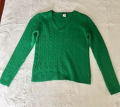 Jew Green Wool Ladies Cashmere Angora Rabbit Hair Cable Knit