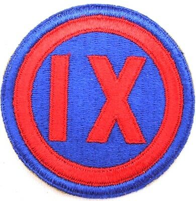 WWII US Army IX Corps Patch 9th Corps original vintage each P2114