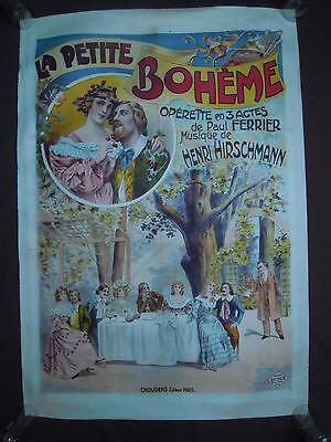 Affiche Poster Lithographie 1905 Music Musical Theatre Operette Opera Spectacle