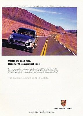2003 Porsche Cayenne S - Original Advertisement Print Art Car Ad J624