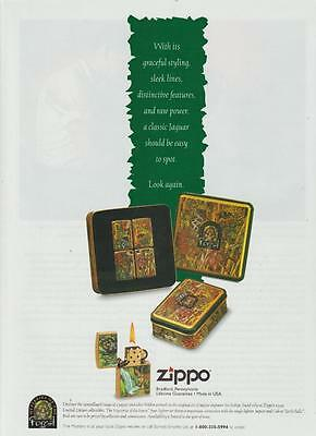 Zippo Lighter Mysteries of the Forest Collection Jaguar Vintage Ad 1995 Rare