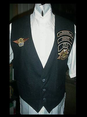 HARLEY DAVIDSON Denim VEST ERIE PA CHAPTER w/ PATCHES LADIES OF XLG 44-46