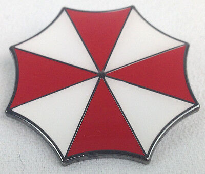 RESIDENT EVIL Umbrella Corporation Logo - Movie and Video Game Large Enamel Pin