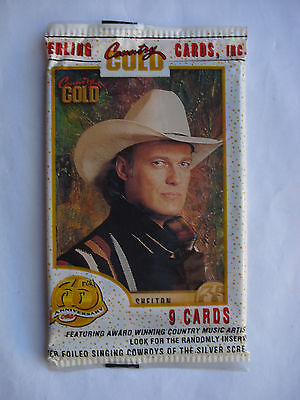 1993 Sterling Cards *country Gold* Sealed Cello Pack