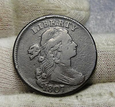 1807 Penny Draped Bust Cent 1 C - Nice Coin, Free Shipping  (5878)