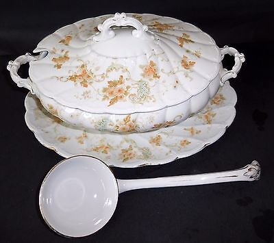 Antique/Vintage Tureen with Lid , Underplate and Ladle RARE