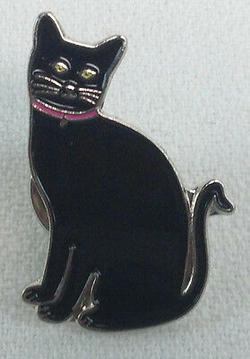 BLACK CAT - UK Imported Enamel Lapel Pin - Halloween Kitty - for all Cat lovers