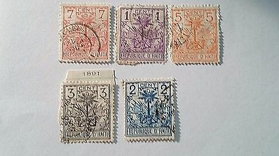 Haiti Scott#26-30 Used Stamps... ..worldwide Stamps