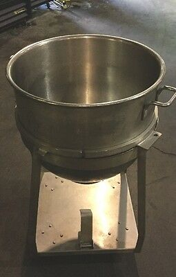 Hobart 80qt Mixer Bowl with Stand Dolly