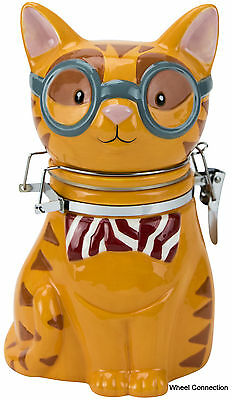 Smarty Cat Culinary Hinged Jar Decorator Kitty Canister by Boston Warehouse