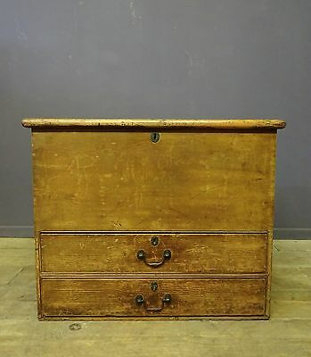 Victorian Painted Pine Mule Chest, Trunk, Antique