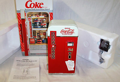 New 1993 Enesco Coca Cola Illuminated Multi-Action Deluxe Musical