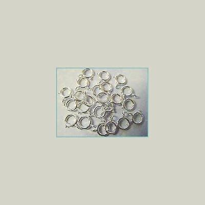 Sterling Silver SPRING RING CLASP FINDINGS,  PACK OF 20