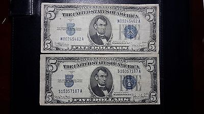 Lot of 1934 series silver certificates federal reserve notes etc $20 $5 $2 & $1