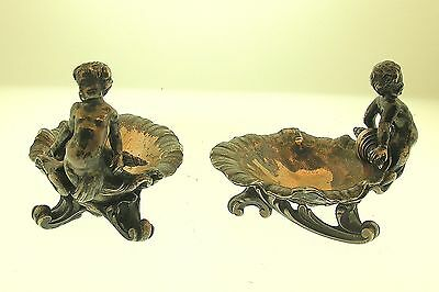 C.1840 Froment-Meurice Pair Of .950 Silver Figural Salts - Super Rare - Signed!!