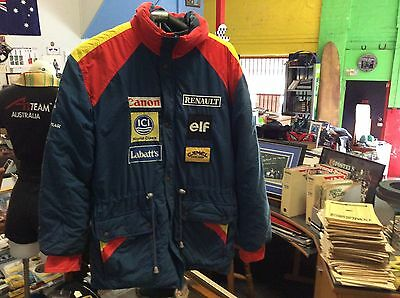 Genuine Williams Renault Team Jacket 1990's Excellent Condition.