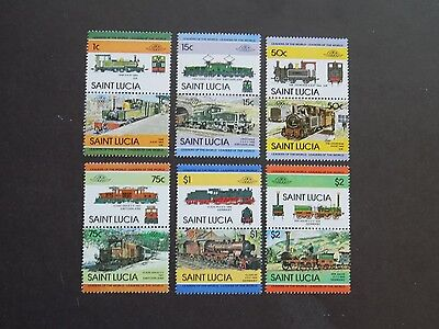 (6)setenant pairs mnh St. Lucia stamps off paper-Scott # 674-85Various countries