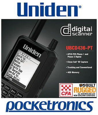 Uniden UBCD436PT Digital Scanner CFA/Trucks/Aviation/Emergency Trunk Tracker V
