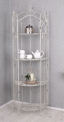 Metal Shelf Shabby Chic Iron Shelf White Garden Shelf Antique Style