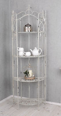 Metallregal Shabby Chic Regal Eisen Weiss Eisenregal Antik Stil