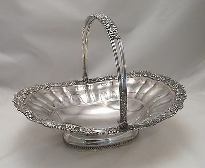 A Very Fine Large Old Sheffield Plate Bread Basket c1810 - Silver Cartouche