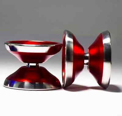 Markus KOH - Vertex bimetal yoyo yo-yo Stainless Steel rim Throw Revolution RED