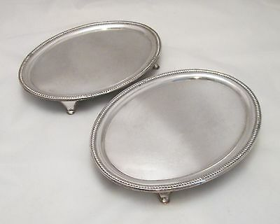 A Fine Pair of Old Sheffield Plated Oval Card Trays - c1810