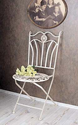 Nostalgia garden chair Shabby Chic Chair white metal chair antique style