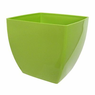JOB LOT OF 320 PCS ARTEVASI SIENA POT GREEN POTS 14cm x 14cm PLASTIC (PE)