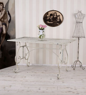 Dining Table Shabby Chic Garden Table Metal Table White Table