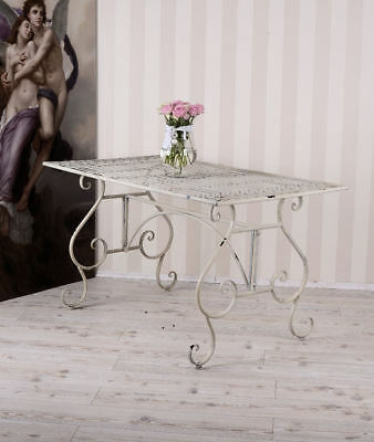 metalltisch garten shabby chic gartentisch metall tisch. Black Bedroom Furniture Sets. Home Design Ideas