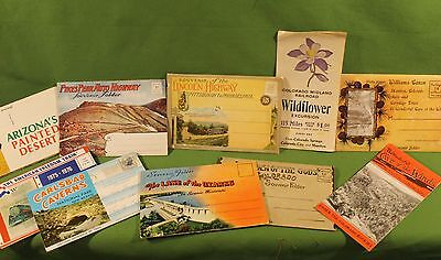 Antique RARE American Post Card Packages Lincoln Highway Pikes Peak & More