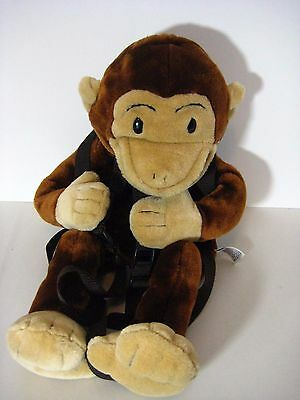 "Curious George Backpack Hand Puppet by Wildkin 22"" Plush"