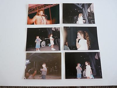 Lot of 6 Billy Ray YOUNG Miley & Braison Cyrus Live Concert Candid Photos 90s